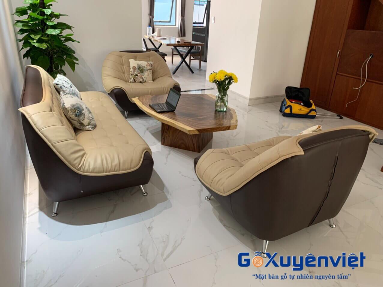 Bàn sofa gỗ me tây 60x90x5cm